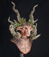 The Forest Lord - Limited Edition Satyr Bust 2 by RavendarkCreations