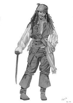 Captain Jack Sparrow by elodie50a