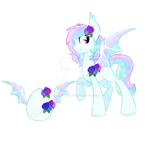 SPARKLEY Bat pony egg adoptable: Auction. CLOSED by StarDust-Adoptables
