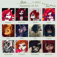 My 2012 summary of art by HulaHoopLAL