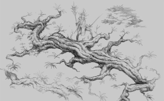 random exercise #1168 Nature Tree Branch by p00se2