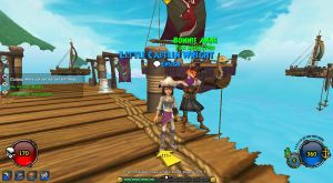 My Pirate101 Character With Her Ship by Angelicsweetheart