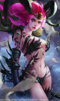 LOL_DEMON Zyra design by OrekiGenya
