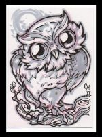Owlie ACEO by McMillen