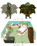 Green Man and bedroom concepts by Lubrian