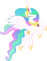 Princess Celestia in Flight by Akili-Amethyst