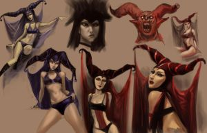 Gallery Girls Horned by ARTofANT