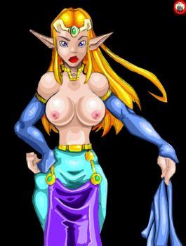 Topless Zelda by the-trio