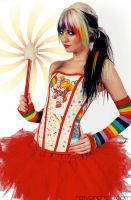 Rainbow Brite Stars Corset 1 by TheVintageDoctor