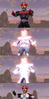 MMD NC 2-Pack - Kamen Rider Agito's final forms by Zeltrax987