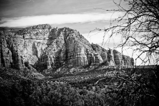 Exploring Sedona in Black and White - I by DimHorizonStudio