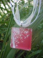 Red Dandelion Pendant by akiseo