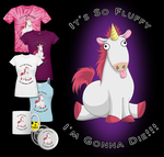 It's So Fluffy!!! T-shirt Design by Crimson-Mane