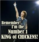 Onew - King of CHICKENS! by LaravsDoppelganger