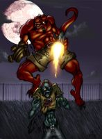 Hellboy Colored by derekblairart