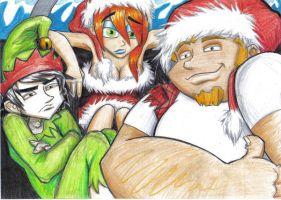 megas christmas by prisonsuit-rabbitman