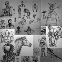 Collage of Sketches by TDSpiral