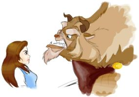 beauty and the beast by manly-unicorn