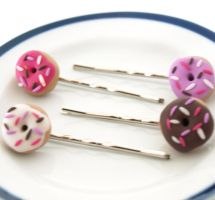 Donut Hair pins by AndyGlamasaurus