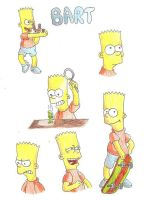 Bart sketches by CartoonSilverFox