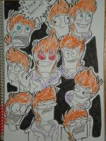 The kawaii Faces of a Ginger by PolisBil