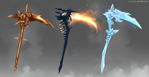 Fantasy scythe by Static-ghost