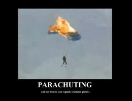 Parachuting Demotivation by GrandMasterSpike