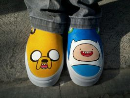 Adventure Time Custom Vans by Cloudxmoe