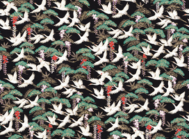 Chiyogami paper with cranes on black by OrigamiPhoenix