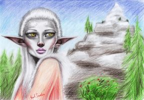 Manora in Skyrim by Smeha