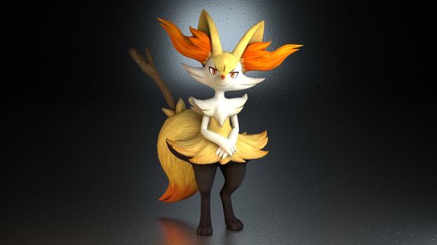 #654. Braixen by TheAdorableOshawott