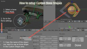How to setup Custom Bone Shapes (Blender Tutorial) by DennisH2010