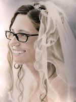Bride - colored pencil drawing by Eleoza