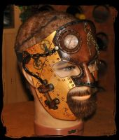 steampunk leather mask by Lagueuse