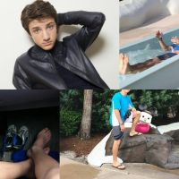 Jake Short Barefoot Collage by Tickler24