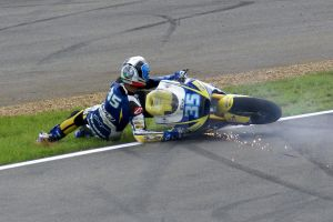 Raffaele De Rosa crashes his moto2 @ Silverstone by Petrol-Head-Images