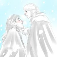 DAO: Anora and Jowan sketch by drathe