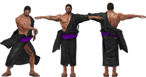 Chris Redfield Samurai Retextured by SpyrousSeraphim