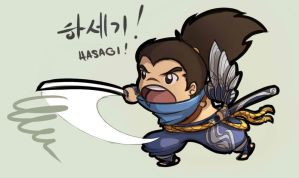 Chibi Yasuo by KittyConQueso