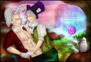 Tea Party (APH Wonderland!AU) by patty110692
