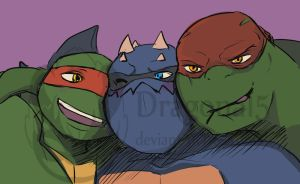 TMNT Two Raphs 1 Slash by Dragona15