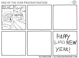 End of the Year Procrastination by Ellygeh