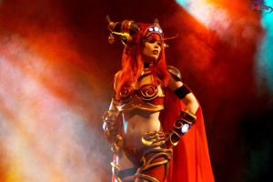 Alexstrasza the Life Binder Cosplay on stage! by KawaiiTine