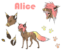Alice reference sheet by thatdumbhorse