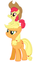 AppleJack and AppleBloom by NinjamissenDk