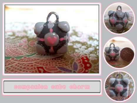 Weighted Companion Cube Charm by Dreams-of-Wings