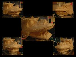 Dragon Puppet Head WIP by shalonpalmer
