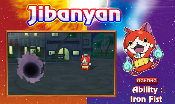 If Jibanyan was a introduced in Pokemon SM! (1) by GrassyXertal