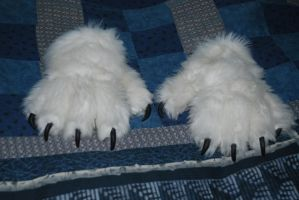 white paw gloves 2 by Rayzerwolf