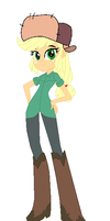 Applejack Dressed as Wendy from Gravity Falls by TheWalrusclown